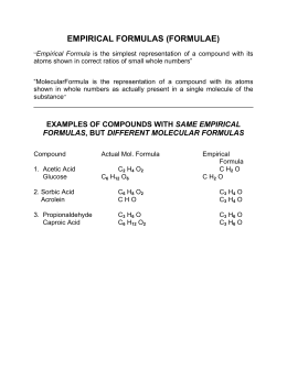 Honors chemistry study guide
