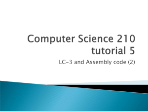 Tutorial Week 6 – LC3 and Assembly 1