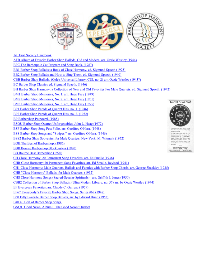 PDF - Barbershop Harmony Society