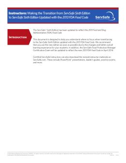 servsafe serving safe food certification course rh studylib net ServSafe Answers ServSafe Training and Certification