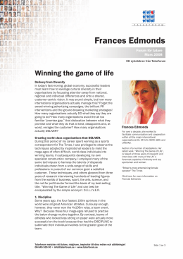 Winning the game of life - Frances Edmonds