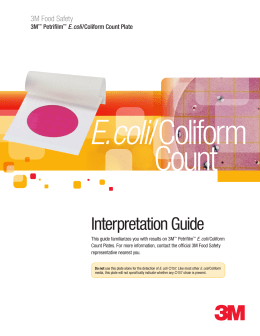 3m petrifilm e coli coliform count plate interpretation guide