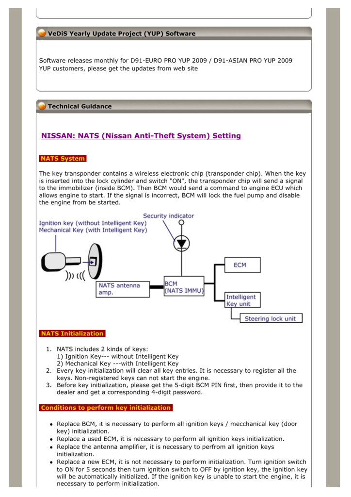 NATS (Nissan Anti-Theft System)