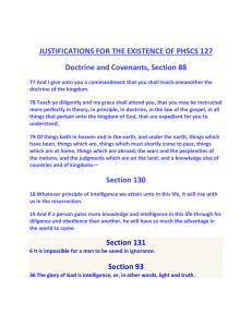 JUSTIFICATIONS FOR THE EXISTENCE OF PHSCS 127 Doctrine