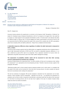 Response to IASB exposure draft on recognition