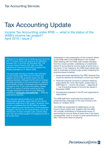 Tax Accounting Update