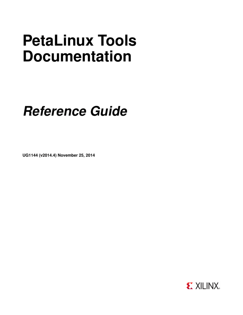 PetaLinux Tools Documentation: Reference Guide (UG1144)