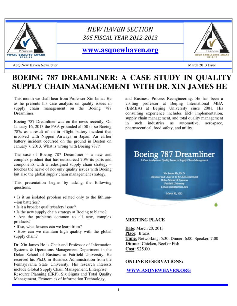 boeing 787 case study