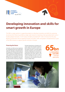 Developing innovation and skills for smart growth in Europe