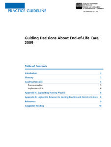 PRACTICE guIdElInE Guiding Decisions About End-of