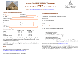 Registration Form for Non-Egyptians.