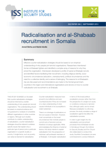 Radicalisation and al-Shabaab recruitment in Somalia
