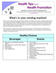 Vending Machine Foods - Medina County Health Department