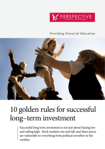 10 golden rules for successful long–term investment