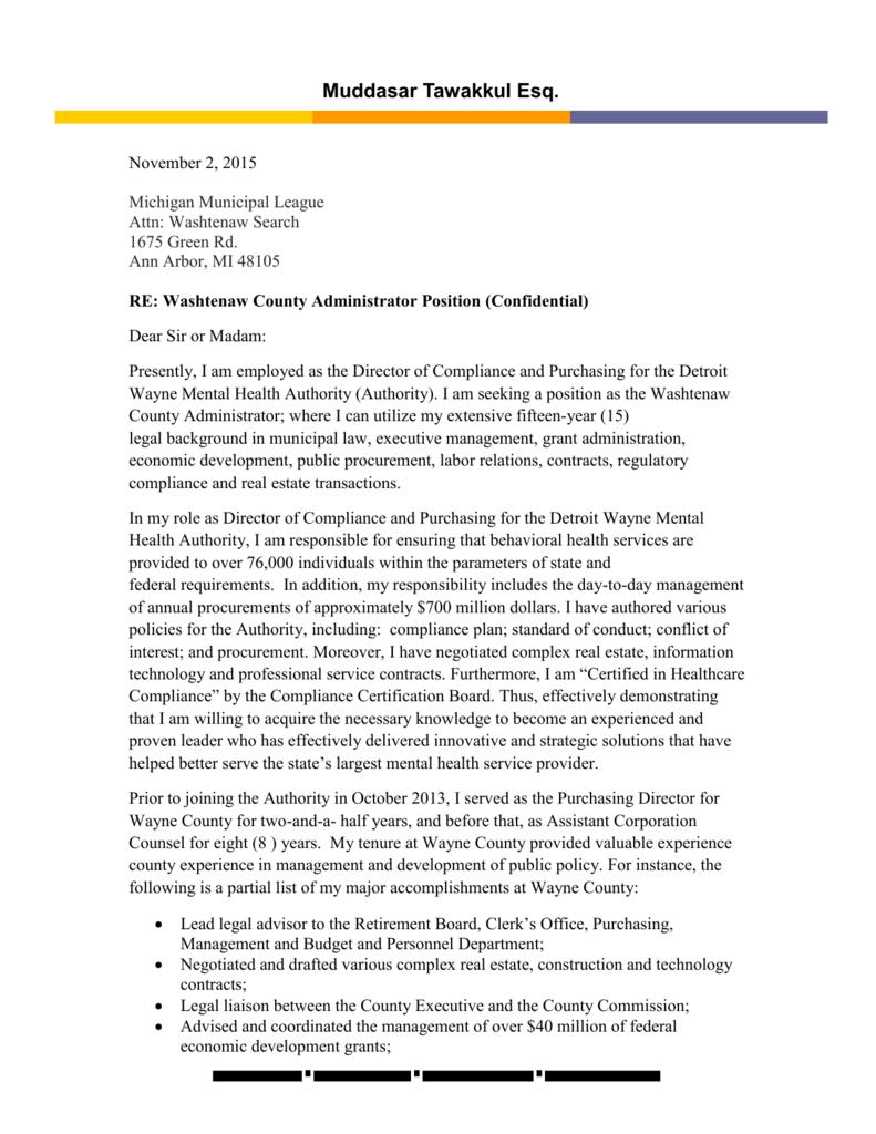 Tawakkul Cover Letter and Resume