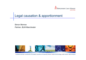 Legal causation & apportionment