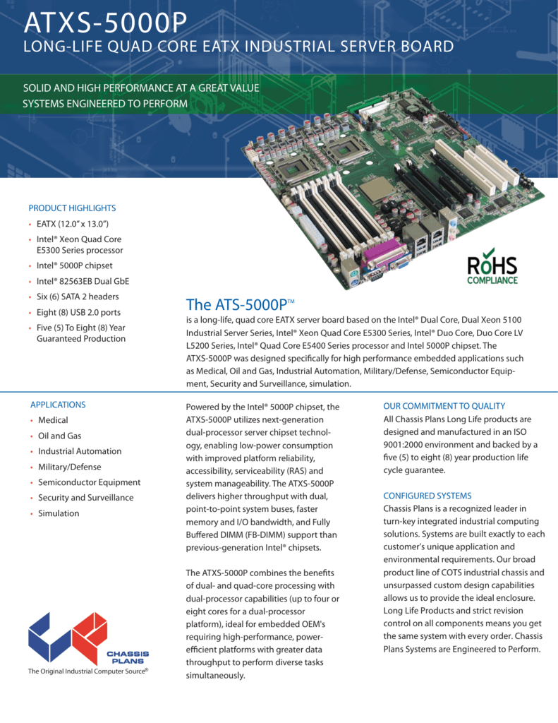 Atxs 5000p Long Life Server Class Eatx Motherboard The Electronic Circuitry Is Custom Designed And Manufactured By Us