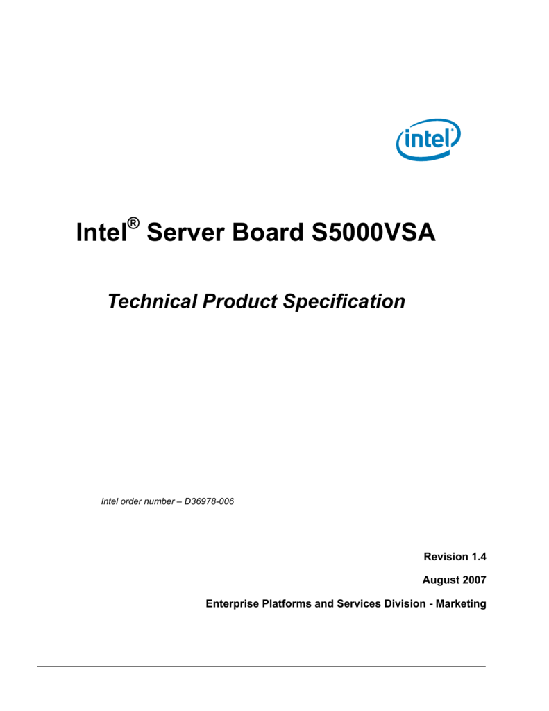 INTEL S5000VSA BASE SYSTEM DEVICE DRIVERS FOR WINDOWS VISTA