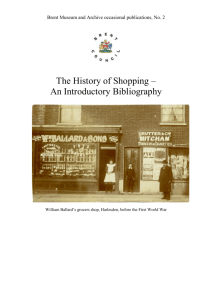 History of Shopping reading list