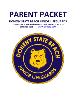 parent packet - Doheny State Beach Junior Lifeguards