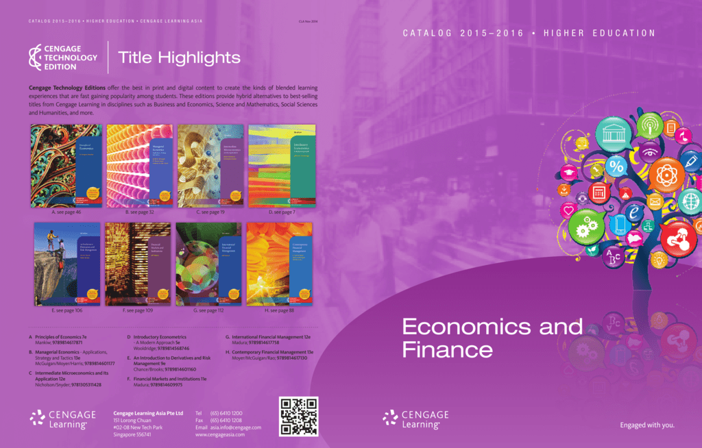 Economics and finance cengage learning asia fandeluxe Image collections
