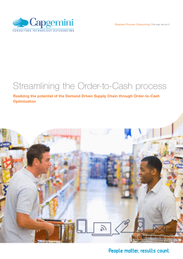 Streamlining the Order-to-Cash process