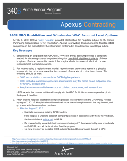 Apexus Contracting - 340B Document Repository Home Page