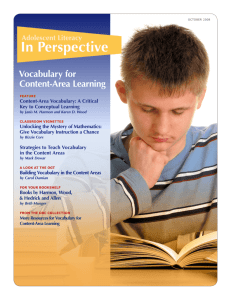 Vocabulary for Content-Area Learning