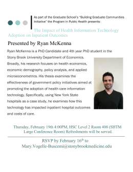 Presented by Ryan McKenna - Program in Public Health