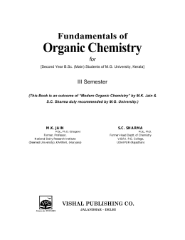 Organic Chemistry - vishal publishing co.