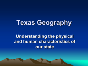 Texas Geography Power Point