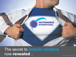 Company Profile - Outsource International Ltd
