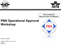 PBN Operational Approval Workshop