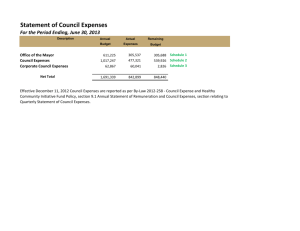 Council Expenses - City of Greater Sudbury