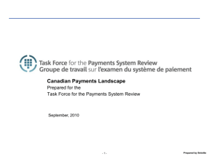 Canadian Payments Landscape