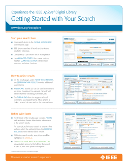 Getting Started with Your Search