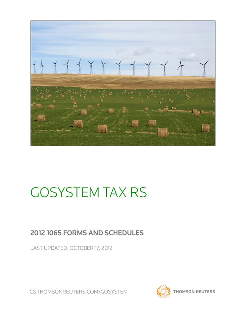 gosystem tax rs - Thomson Reuters