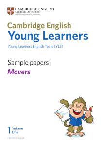 YLE - Movers Sample Papers Vol. 1