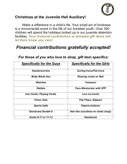 Christmas Donations Wish List