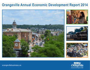 Orangeville Annual Economic Development Report 2014