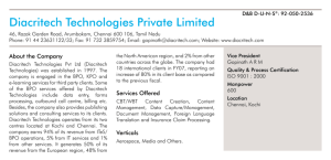Diacritech Technologies Private Limited