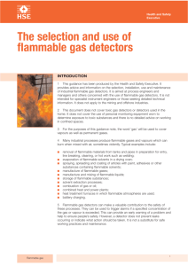 The selection and use of flammable gas detectors