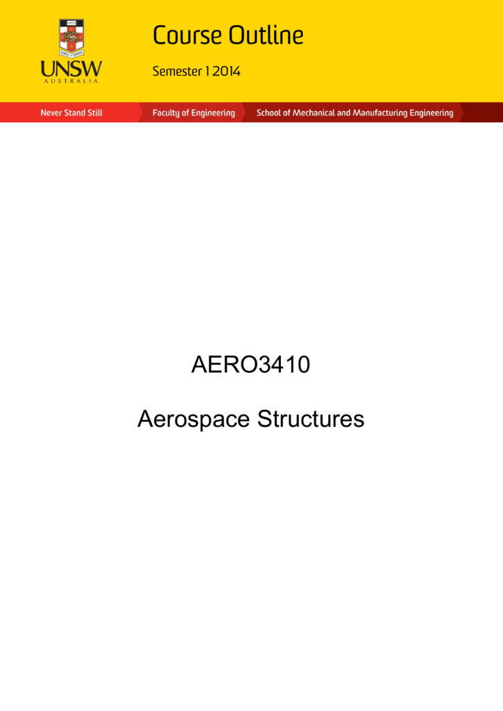 Aero3410 Aerospace Structures