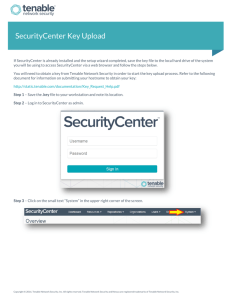 SecurityCenter Key Upload - Tenable Network Security