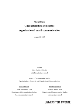 Characteristics of mindful organizational email communication