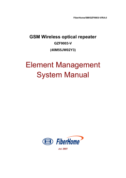 Element Management System Manual