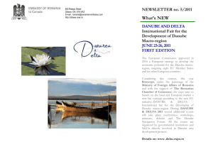 NEWSLETTER no. 5/2011 What's NEW DANUBE AND DELTA