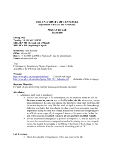 Physics 231, Section 006 - University of Tennessee Department of