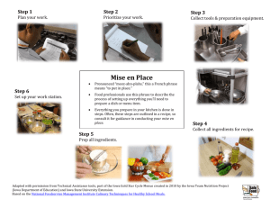 Mise en Place - University of Minnesota Extension