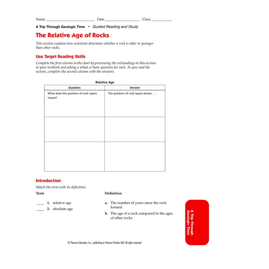 Worksheet Pearson Education Inc Publishing As Pearson